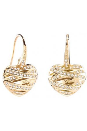 Guess Jewellery Earrings UBE21582 - Oorknoppen - Hart - Messing goudkleurig PVD