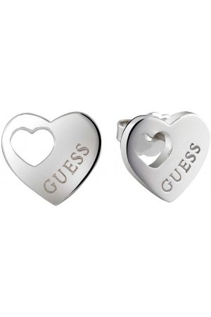 GUESS Jewellery Oorbellen Heart Devotion - zilverkleurig - hart - 1,6