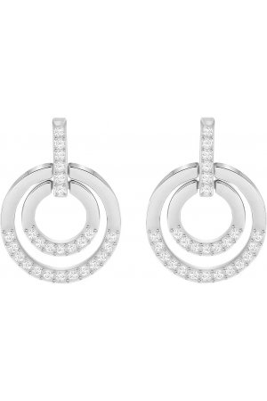 Swarovski Oorbellen 'Circle' Medium White/Silver 5349203