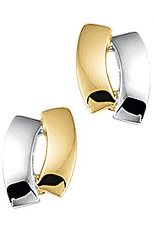 The Jewelry Collection Oorknoppen - Bicolor Goud