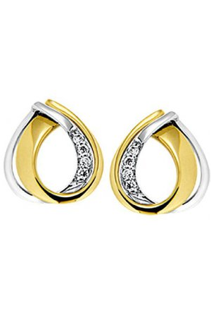 The Jewelry Collection Oorknoppen Diamant 0.03 Ct. - Bicolor Goud
