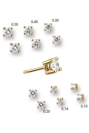 The Jewelry Collection Oorknoppen Diamant 0.14 Ct. - Geelgoud