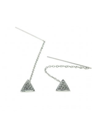 Triangle dropearrings with stones