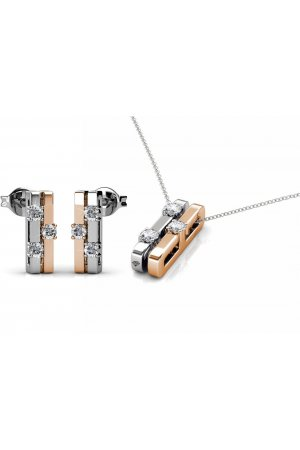 Yolora swarovski elements oorbellen & hanger set