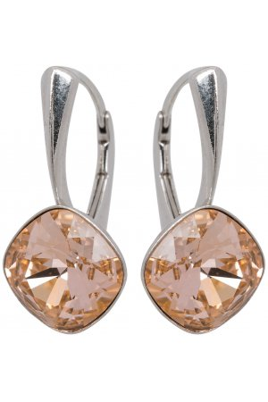 Zilveren Oorbellen met Swarovski Elements Light Peach